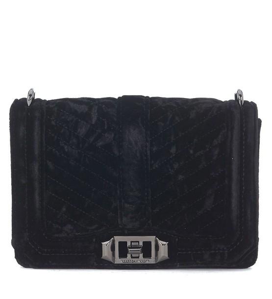 Rebecca Minkoff love bag shoulder bag black velvet