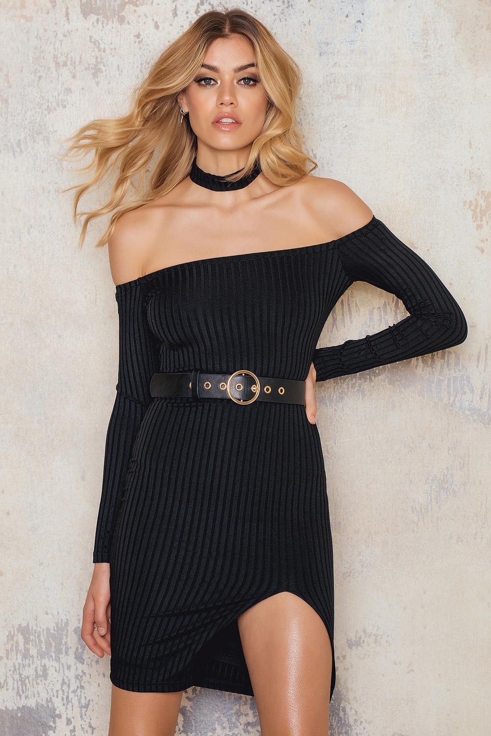 Passion Fusion Off Shoulder Dress