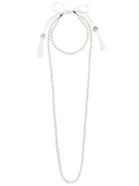 layered necklace women pearl layered necklace white jewels