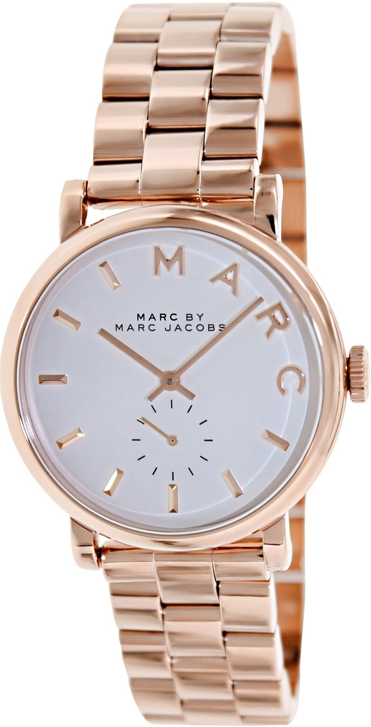 Amazon.com: marc by marc jacobs silver dial rose gold