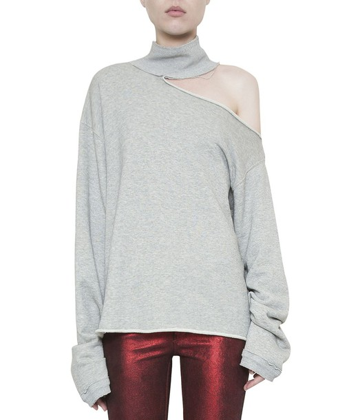 rta sweatshirt cut-out cotton sweater