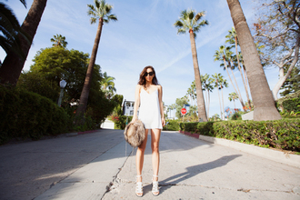 fashiontoast blogger bag mini dress white dress sandals