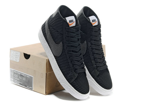 popular stores release info on cheap sale Womens Nike Blazer Mid Mesh Black Anthracite White , Nike ...