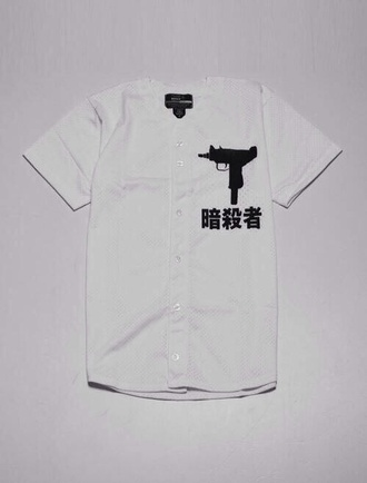 jersey dope tumblr gun white top