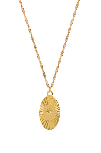 Frasier Sterling necklace metallic gold jewels