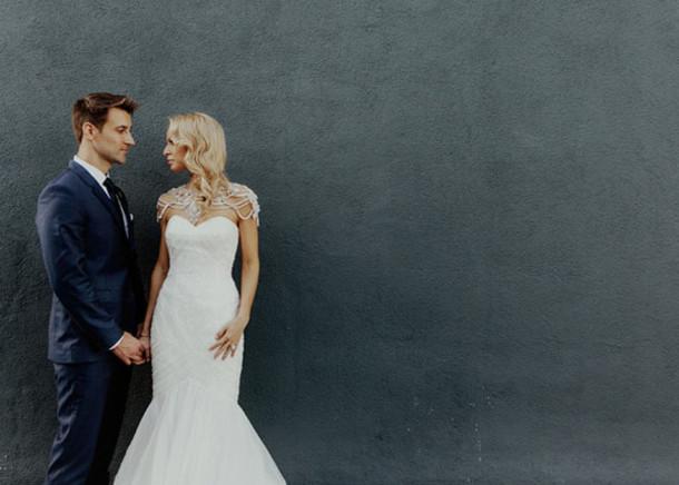 Green Wedding Shoes Blogger Wedding Dress Strapless Dress