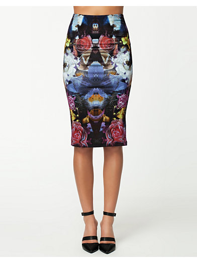 Midi Skirt - Textile Federation - Diamond Flower - Jupes - Vêtements - Femme - Nelly.com La Mode En Ligne Sur Internet