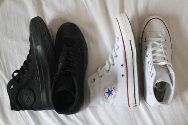 shoes all star black total black white converse chuck taylor all stars black trim