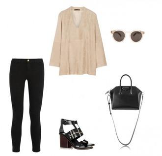 helena bordon blogger top jeans shoes bag sunglasses