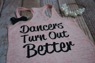 shirt dance tank top pink top