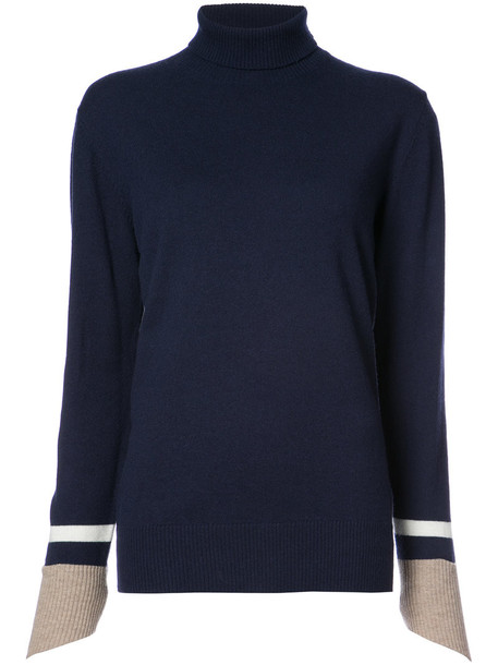 sweater turtleneck turtleneck sweater women blue wool