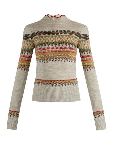 Isabel Marant etoile sweater knit grey