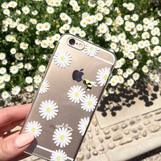 phone cover yeah bunny daisy clear cute floral iphone cover iphone case iphone