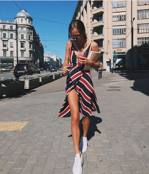 a13a7acca30c8 dress red black white summer dress red striped sundress stripes vintage sleeveless  dress striped dress sleeveless