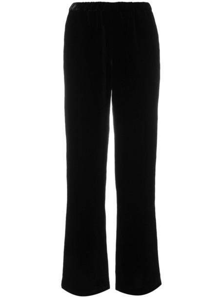 Ql2 - wide leg trousers - women - Silk/Cotton/Viscose - 46, Black, Silk/Cotton/Viscose