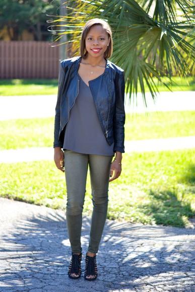 peep toe blogger jacket jeans cha cha the fashion genius jewels leather jacket