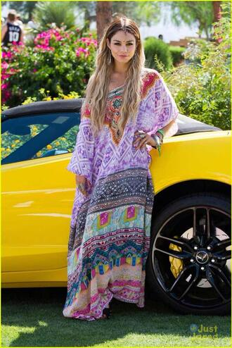 dress kaftan vanessa hudgens coachella boho