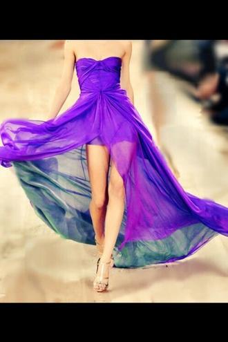 dress purple beautiful style fashion high heels girly prom dress summer purple dress long prom dress beach dress beach