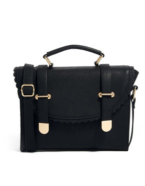 ASOS | ASOS Satchel Bag With Scallop Flap And Metal Tips at ASOS