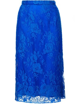 skirt lace blue