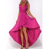 dress,hot pink,sexy,asymmetrical,trendy,hot,party dress,maxi dress,tan,summer,rose wholesale-jan,mynystyle,pink,elegant dress