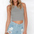 Light Blue Distressed Raw Hem Denim Shorts