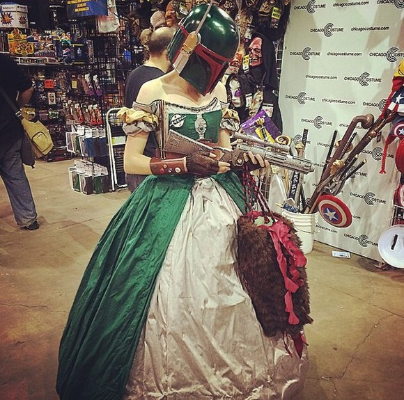 ball gown cosplay green starwars costume nerd geek costume ideas