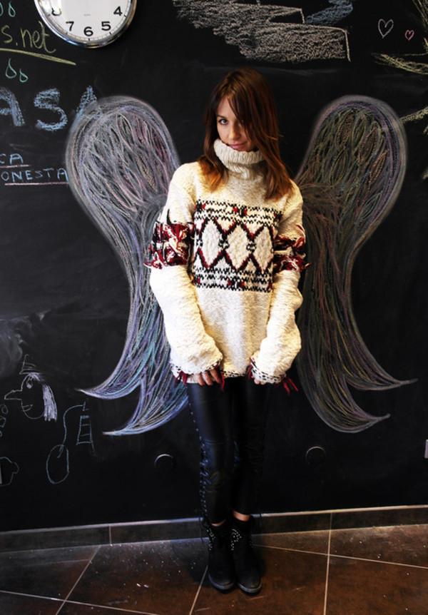 silk drops sweater pants shoes