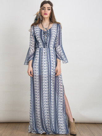 dress chiclook closet boho dress boho chic summer fashion style maxi dress bohemian lookbook sheer streetstyle