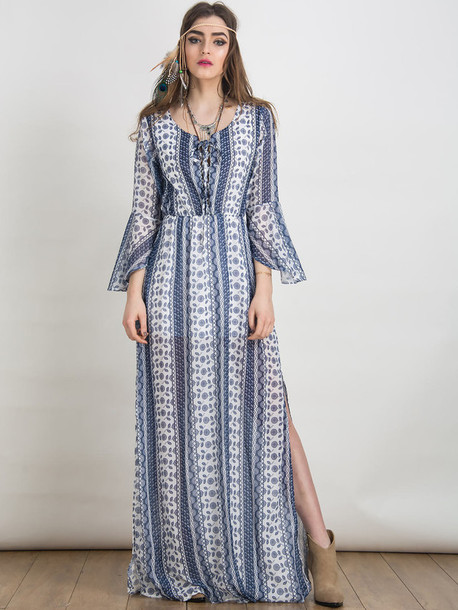 Bohemian chic maxi dresses