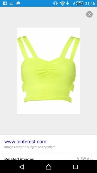 shirt neon crop tops bralette strappy co