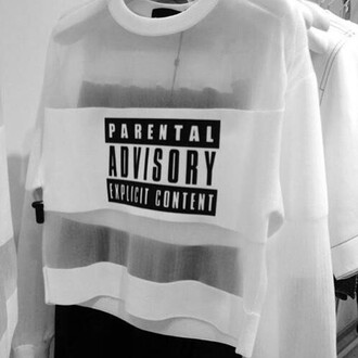 shirt pale pale grunge dark grunge kawaii grunge cute mesh soft grunge parental advisory explicit content