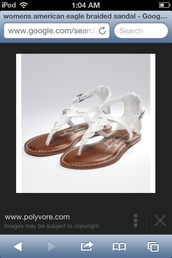 shoes,white sandals,american eagle outfitters,braided sandles