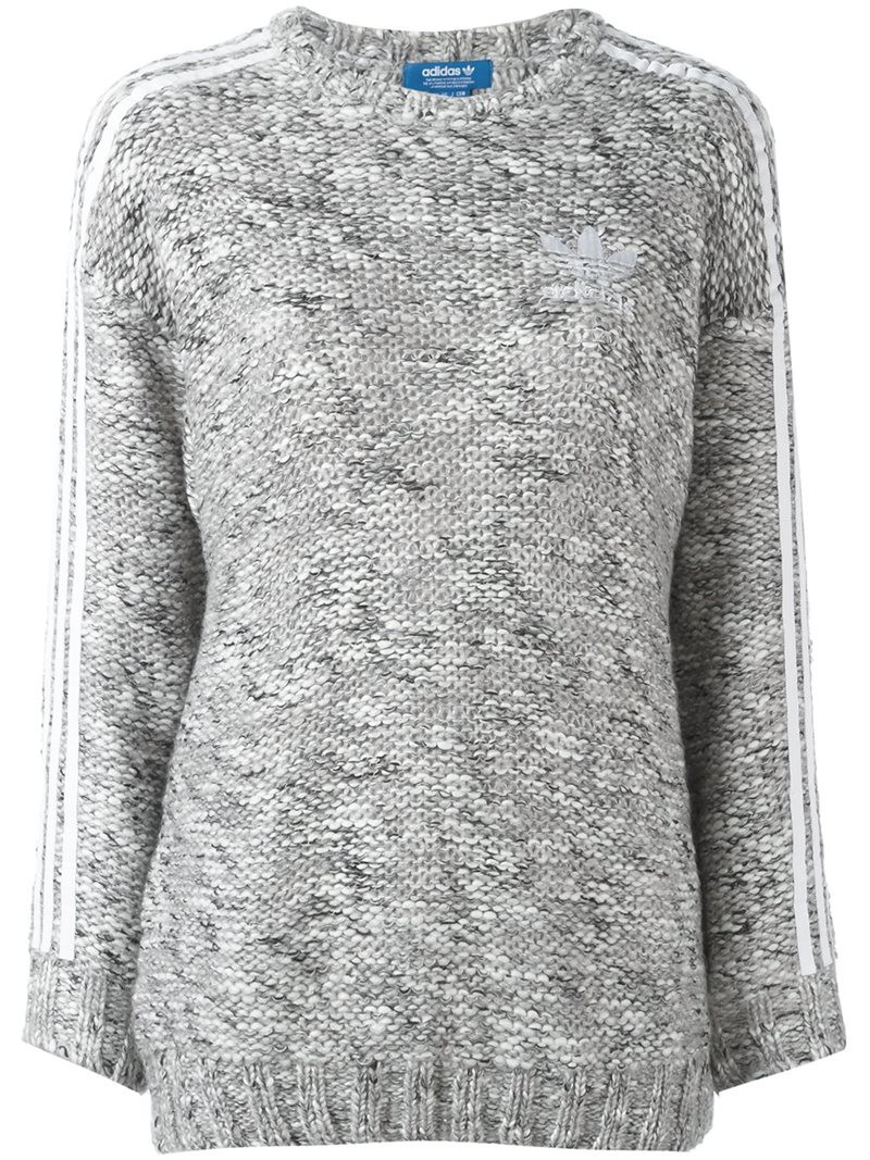 Adidas Originals logo knit sweater, Women's, Size: 40, Black, Wool ...