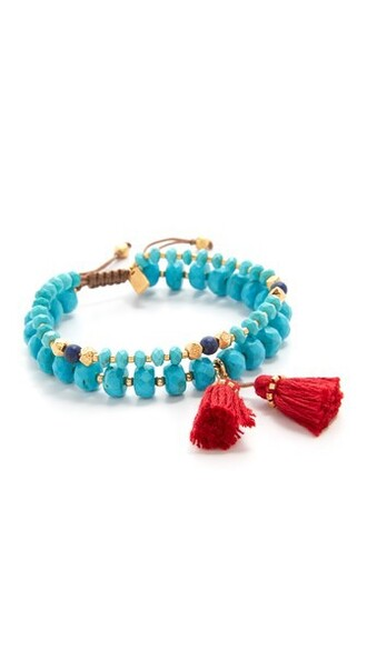 tassel turquoise jewels