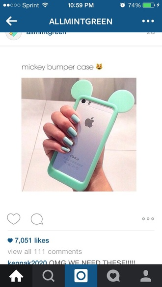 phone cover aqua mickey mouse