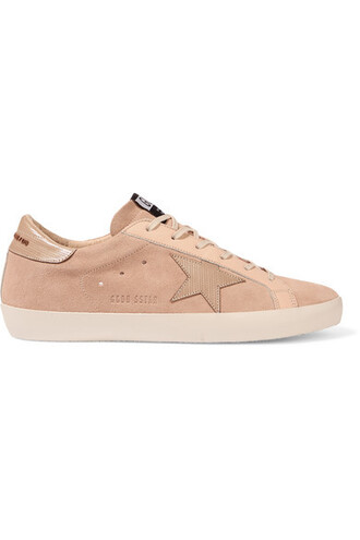 suede sneakers sneakers leather suede beige shoes