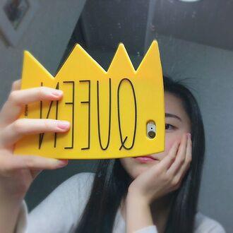 phone cover yeah bunny queen crown iphone case cute selfie queen selfie 3d case bestseller jewels