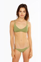 swimwear,frankies bikini,braided,frankies,green,halter top,top,beach,fashion,skimpy,luxurious,sporty