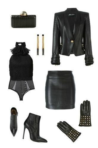 breakfastwithaudrey blogger bag jacket jewels skirt shoes gloves leather gloves