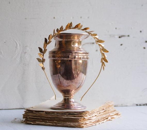ORO foglia archetto Golden Leaf nozze Grecian di redtruckdesigns
