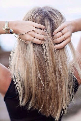 jewels ring bracelets hair/makeup inspo gold boho festival hand jewelry summer beauty