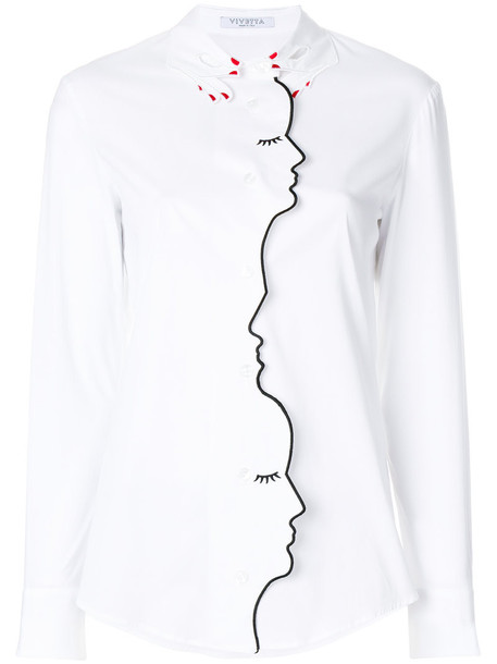 shirt long women spandex white cotton top