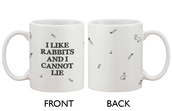 home accessory,bunny,i like rabbits and i cannot lie,mug,gift ideas,gifts for her,graphic mug
