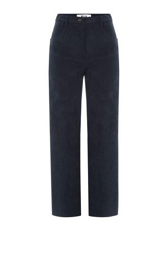 pants wide-leg pants cropped brown