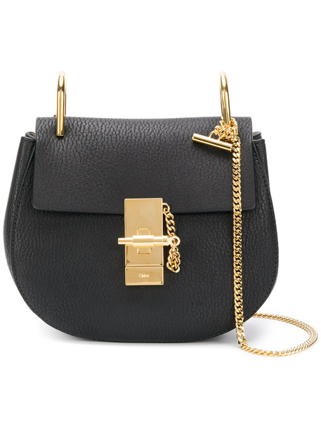 Chloe mini women bag shoulder bag leather black