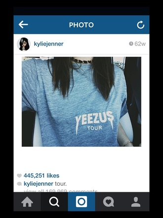 t-shirt yeezus kylie jenner