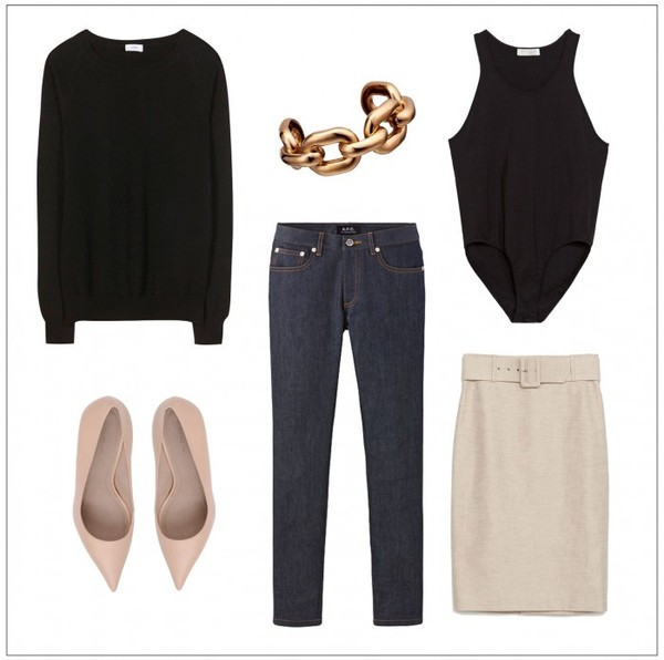 style by kling sweater jewels shoes jeans skirt