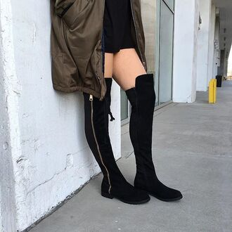 shoes over the knee boots over the knee kanye olive bomber jacket olive bomber bomber jacket boots otk zip boots gojane