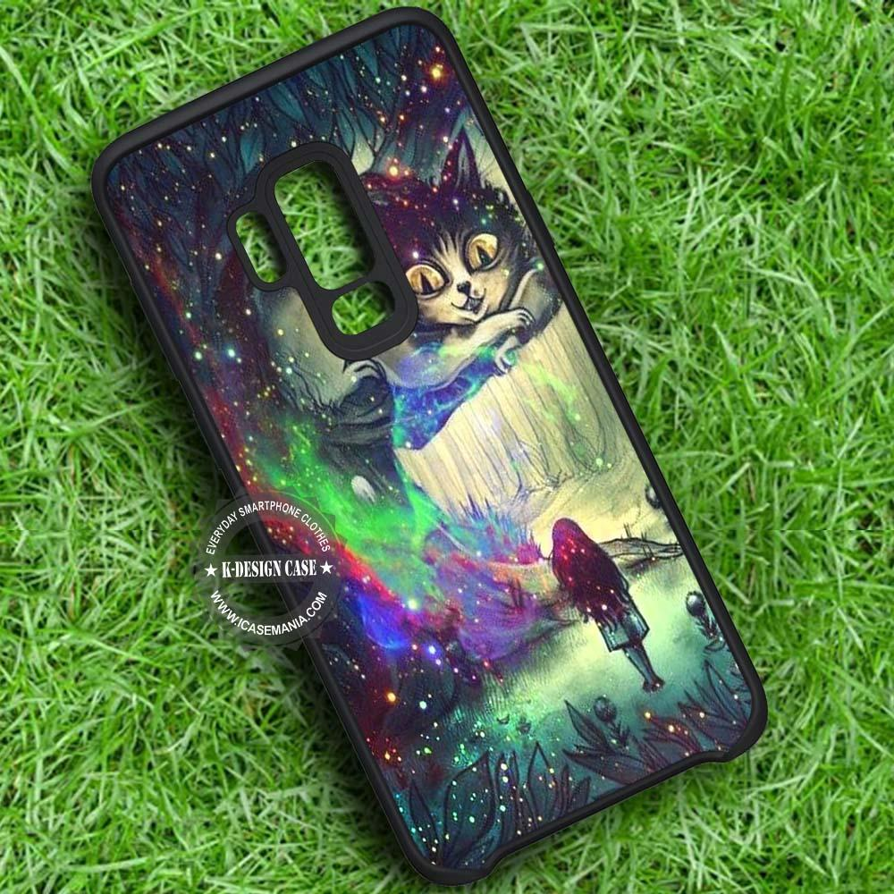 Alice in Wonderland and Chesire Cat - Samsung Galaxy S8 S7 S6 Note 8 Cases & Covers #SamsungS9